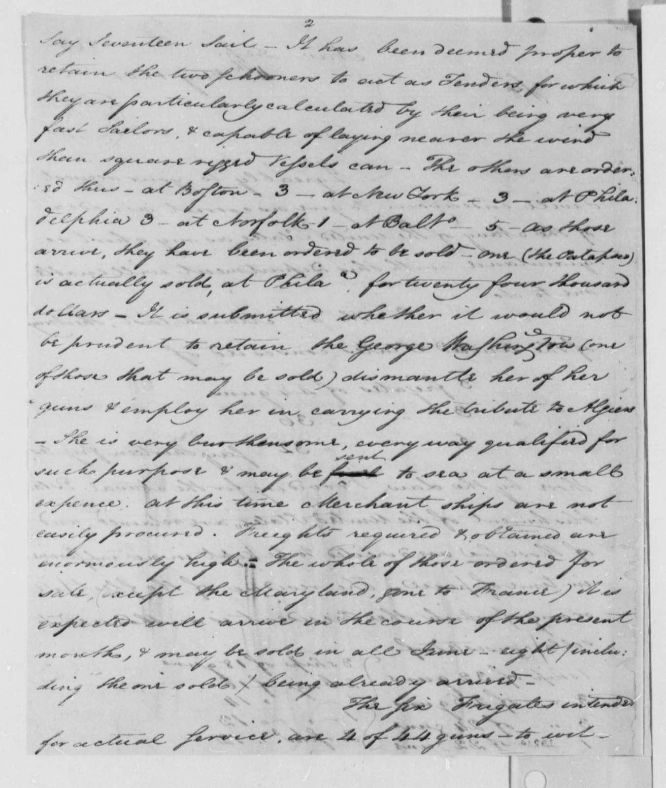 Samuel Smith to Thomas Jefferson, May 4, 1801