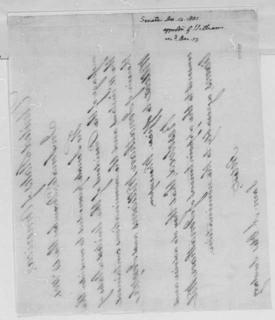 Senate to Thomas Jefferson, December 14, 1801, Nominations