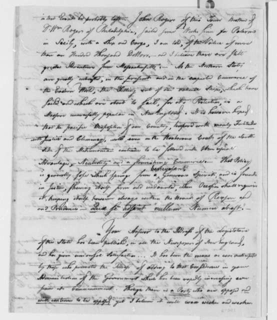 Theodore Foster to Thomas Jefferson, July 21, 1801