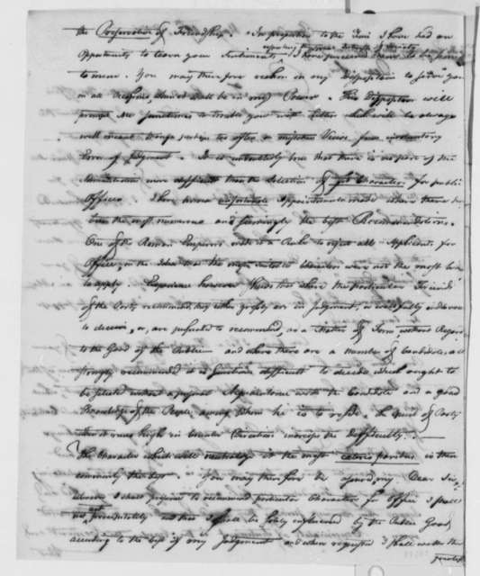 Theodore Foster to Thomas Jefferson, May 19, 1801