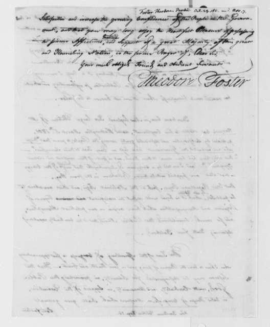 Theodore Foster to Thomas Jefferson, October 29, 1801