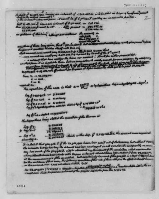 Thomas Jefferson, November 16, 1801, Treasury Revenue