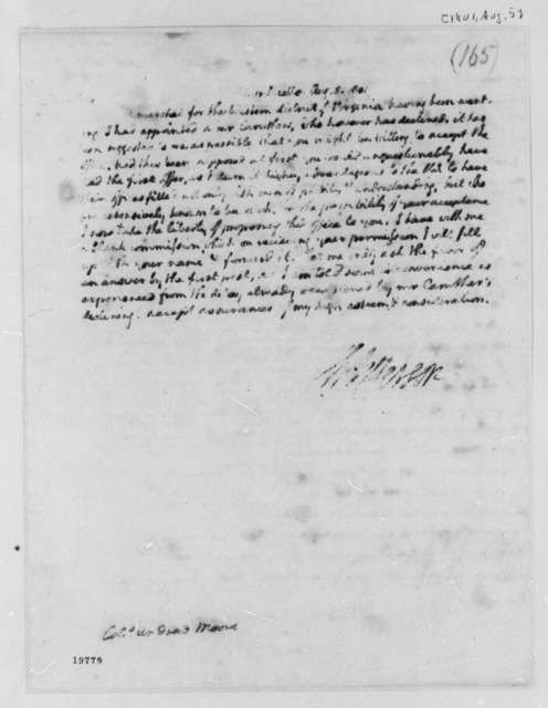 Thomas Jefferson to Andrew Moore, August 5, 1801