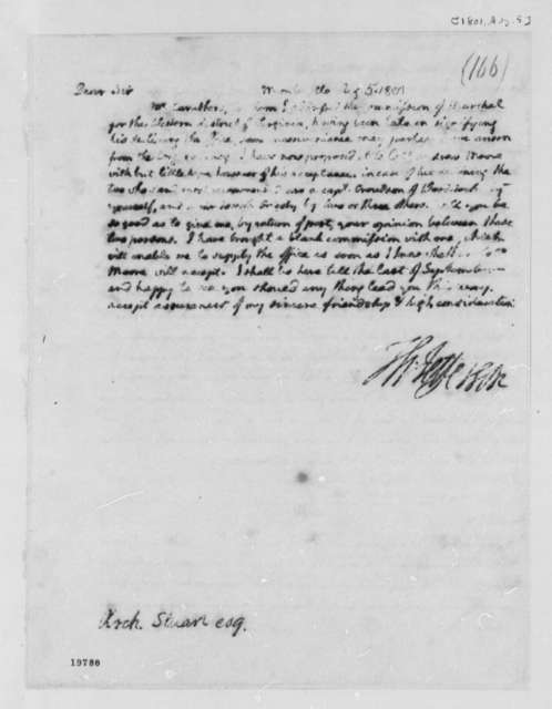 Thomas Jefferson to Archibald Stuart, August 5, 1801
