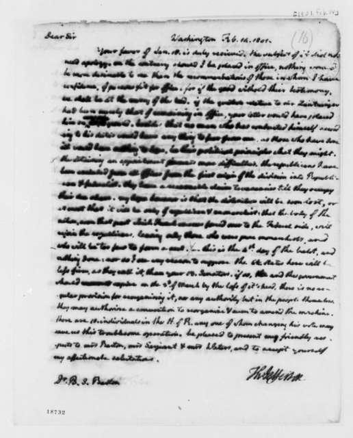 Thomas Jefferson to Benjamin Smith Barton, February 14, 1801