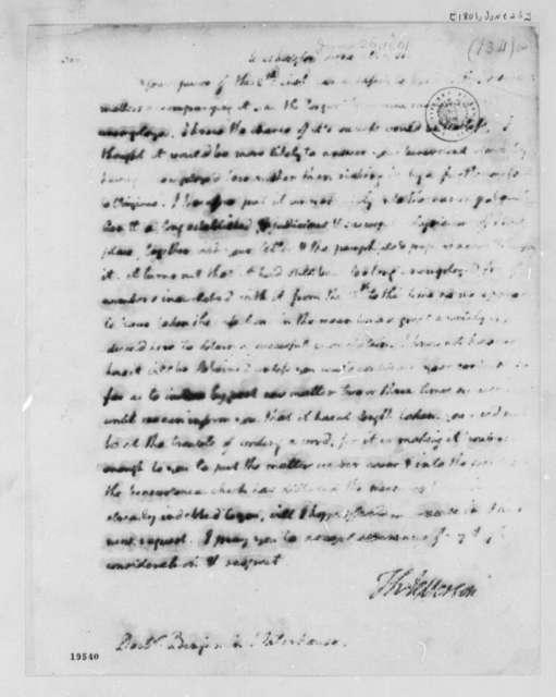 Thomas Jefferson to Benjamin Waterhouse, June 26, 1801