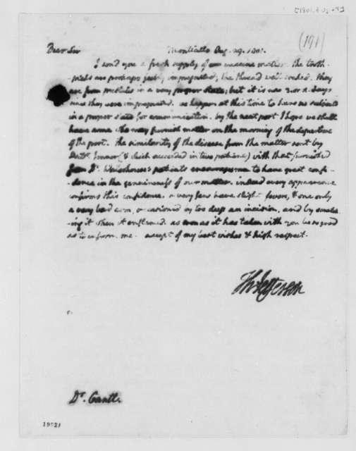Thomas Jefferson to Edward Gantt, August 29, 1801