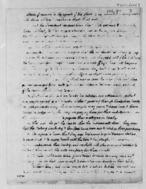 Thomas Jefferson to Henry Dearborn, June 26, 1801, Partly Illegible