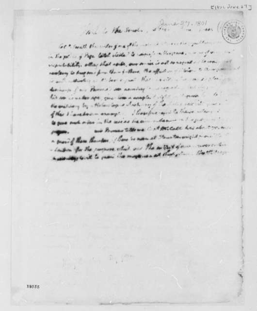 Thomas Jefferson to Henry Dearborn, June 27, 1801