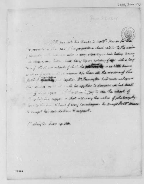 Thomas Jefferson to James Mease, June 29, 1801