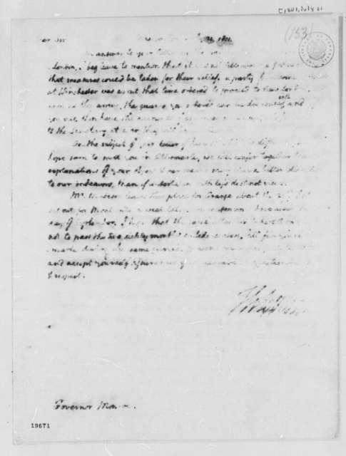 Thomas Jefferson to James Monroe, July 21, 1801