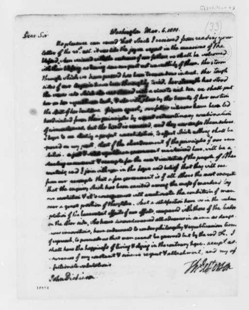 Thomas Jefferson to John Dickinson, March 6, 1801