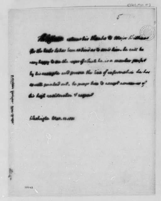 Thomas Jefferson to Jonathan Williams, March 14, 1801