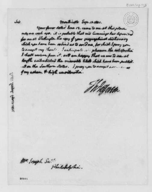 Thomas Jefferson to Joseph Scott, September 11, 1801