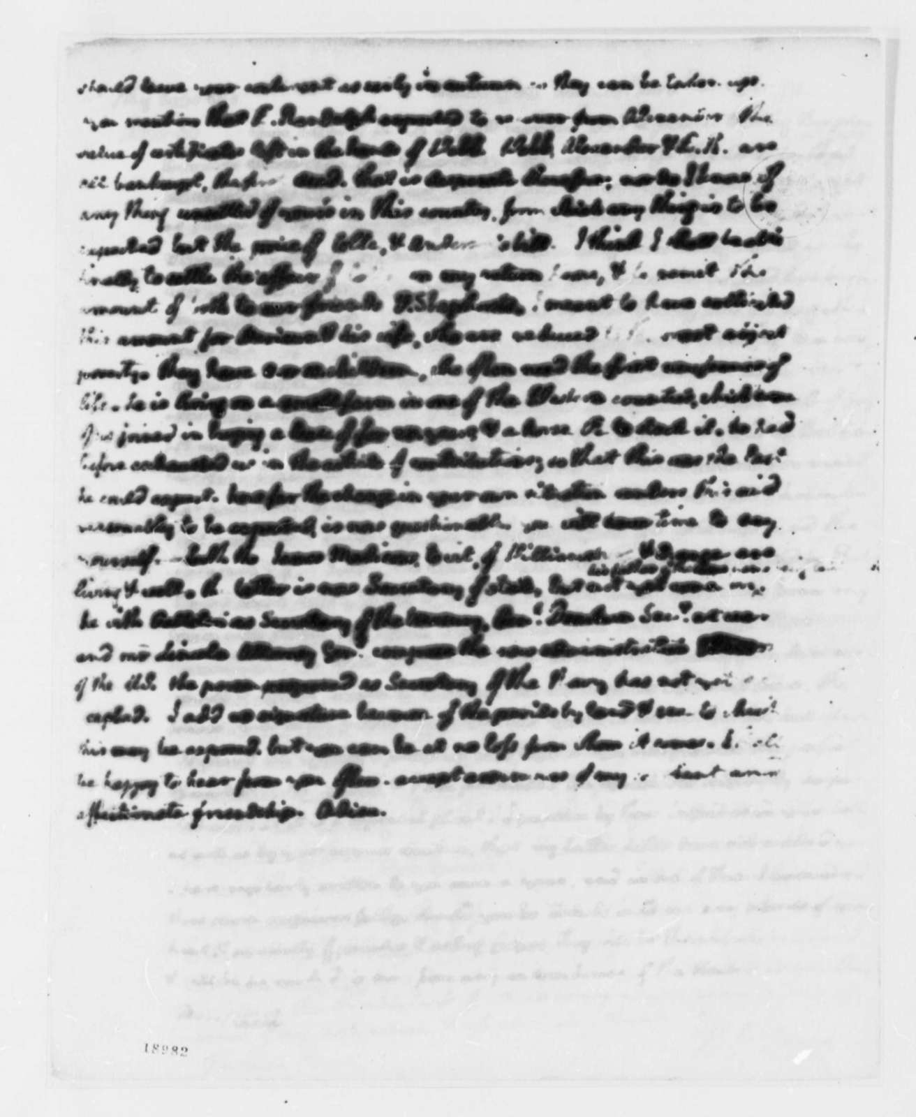 Thomas Jefferson to Philip Mazzei, March 17, 1801