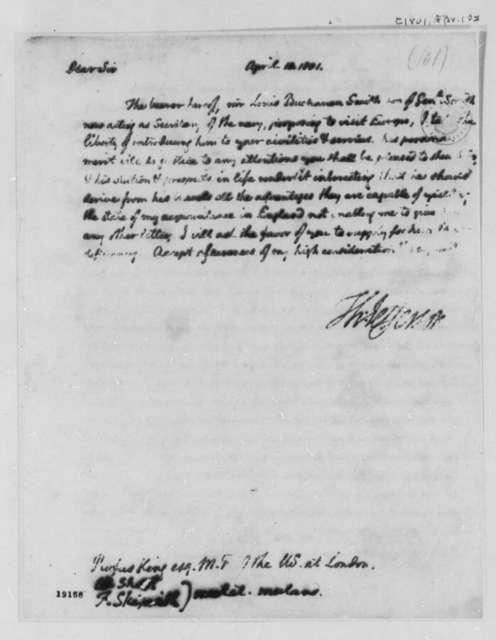 Thomas Jefferson to Rufus King, April 10, 1801