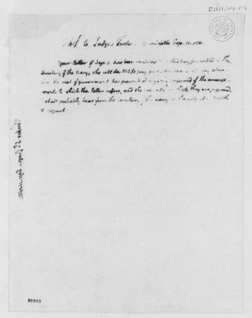 Thomas Jefferson to St. George Tucker, September 11, 1801