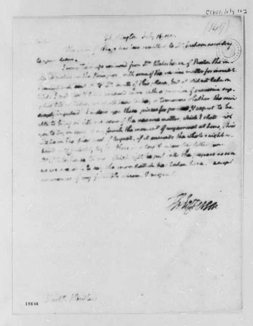Thomas Jefferson to Williams Wardlaw, July 16, 1801