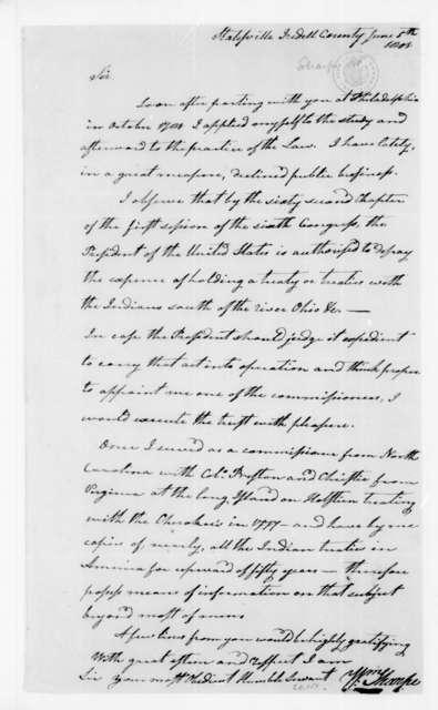 William Sharpe to James Madison, June 5, 1801.
