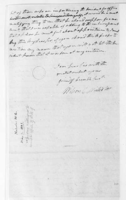 Wilson C. Nicholas to James Madison, May 3, 1801.