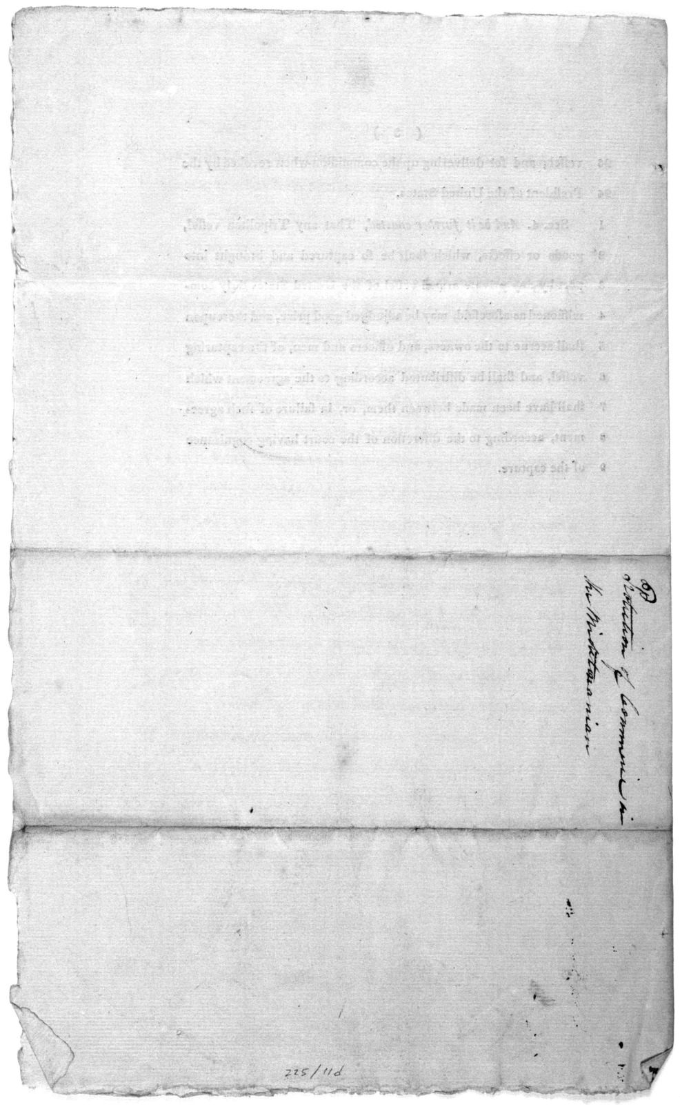 7th January, 1802, Read the first and second time, and ordered to be committed to a committee of the whole House, on Monday next. A bill for the protection of the commerce and seamen of the United States, in the Mediterranean and adjoining seas