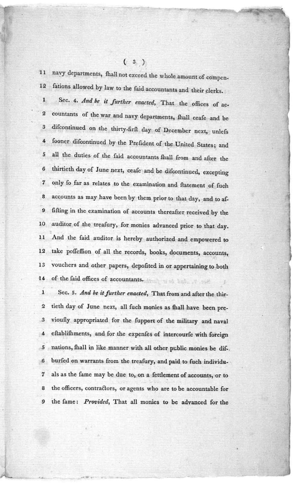 8th April, 1802. Read the first and second time, and committed to a committee of the whole House, on Monday next. A bill, to provide more effectually for the due application of public money, and for the accountability of persons entrusted therew