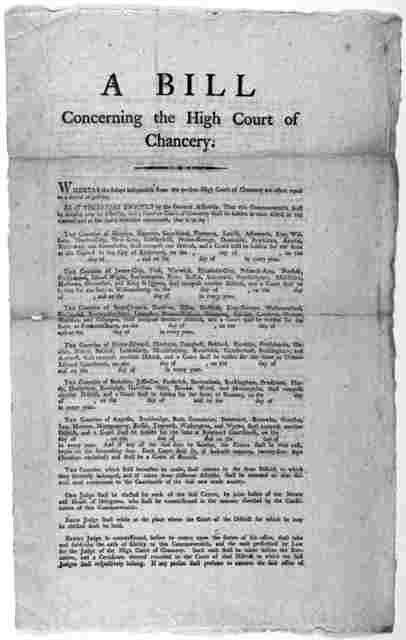 A bill concerning the high court of chancery [1802].