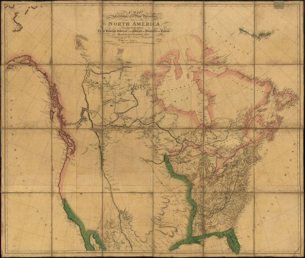 A map exhibiting all the new discoveries in the interior parts of North America /