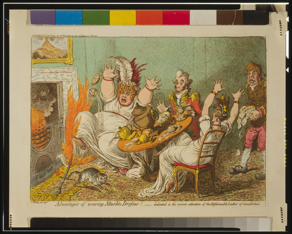 Advantages of wearing muslin dresses! / Js. Gillray,inv: & ft.