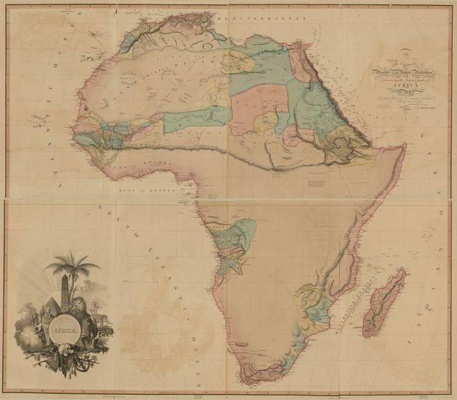 Africa : to the committee and members of the British association discovering the interior parts of Africa this map is with their permission most respectfully inscribed /