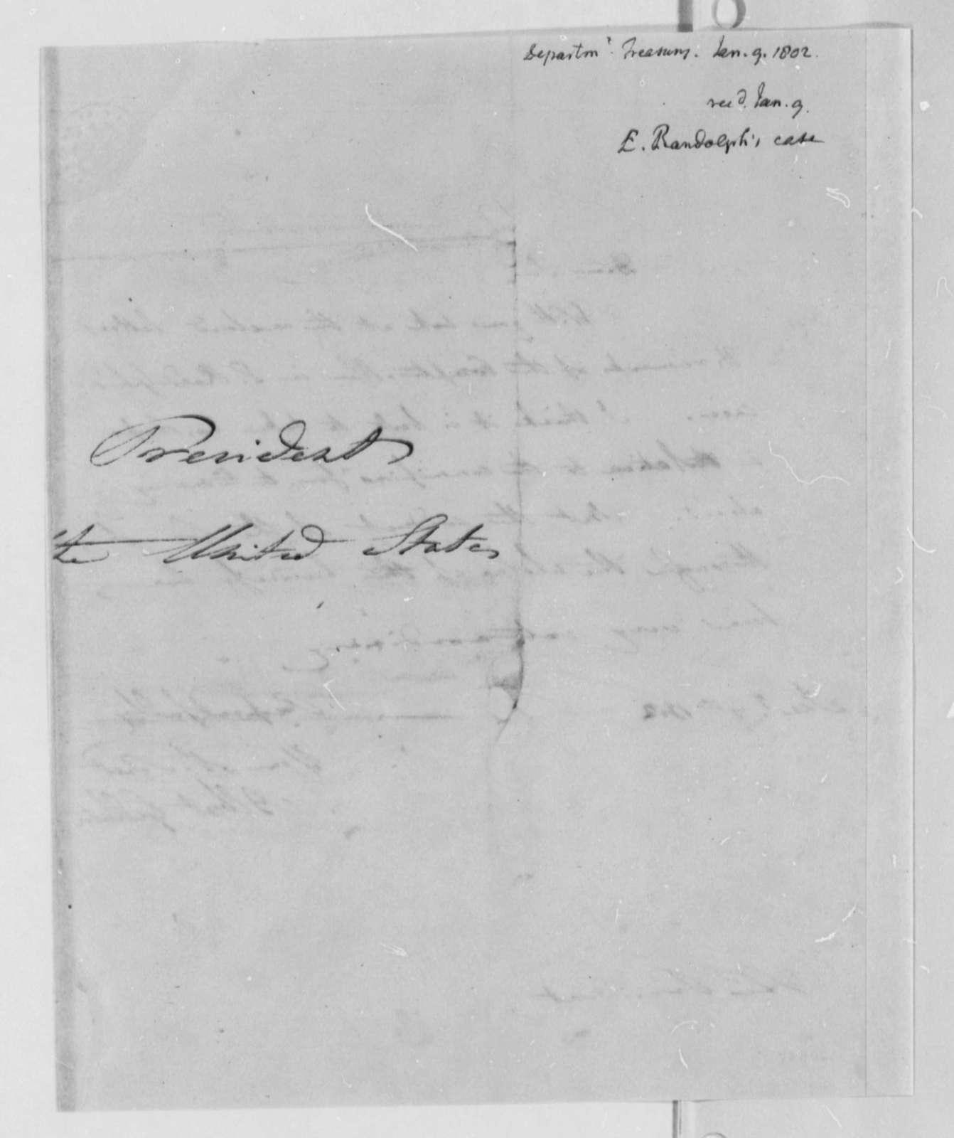 Albert Gallatin to Thomas Jefferson, January 9, 1802
