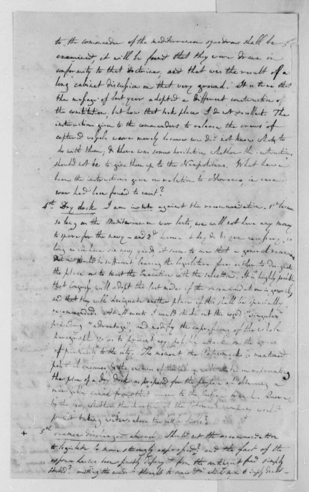 Albert Gallatin to Thomas Jefferson, November 21, 1802