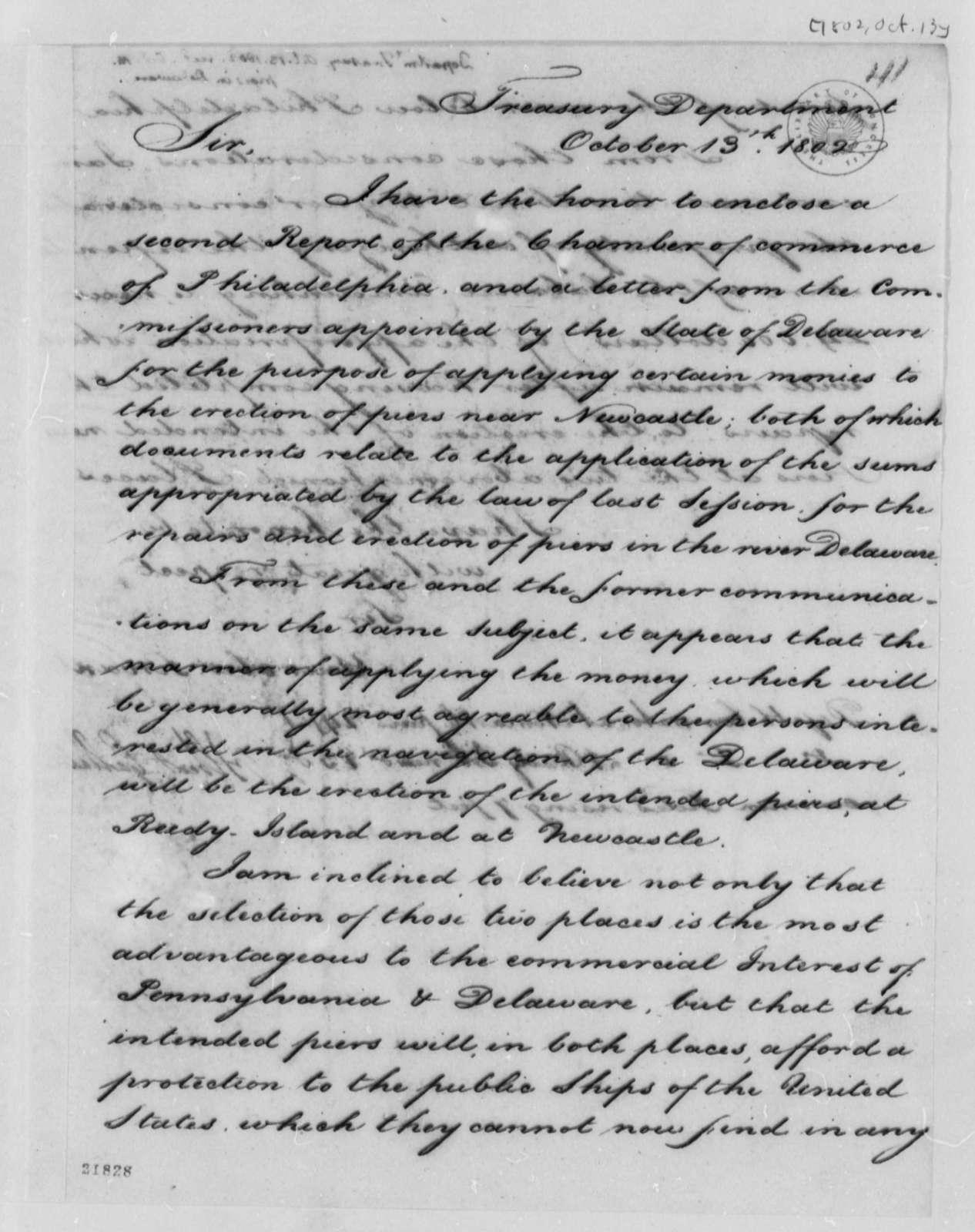 Albert Gallatin to Thomas Jefferson, October 13, 1802