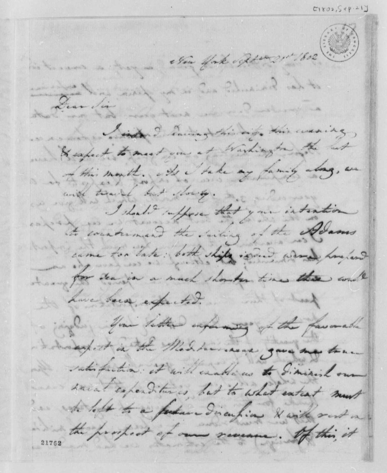 Albert Gallatin to Thomas Jefferson, September 21, 1802