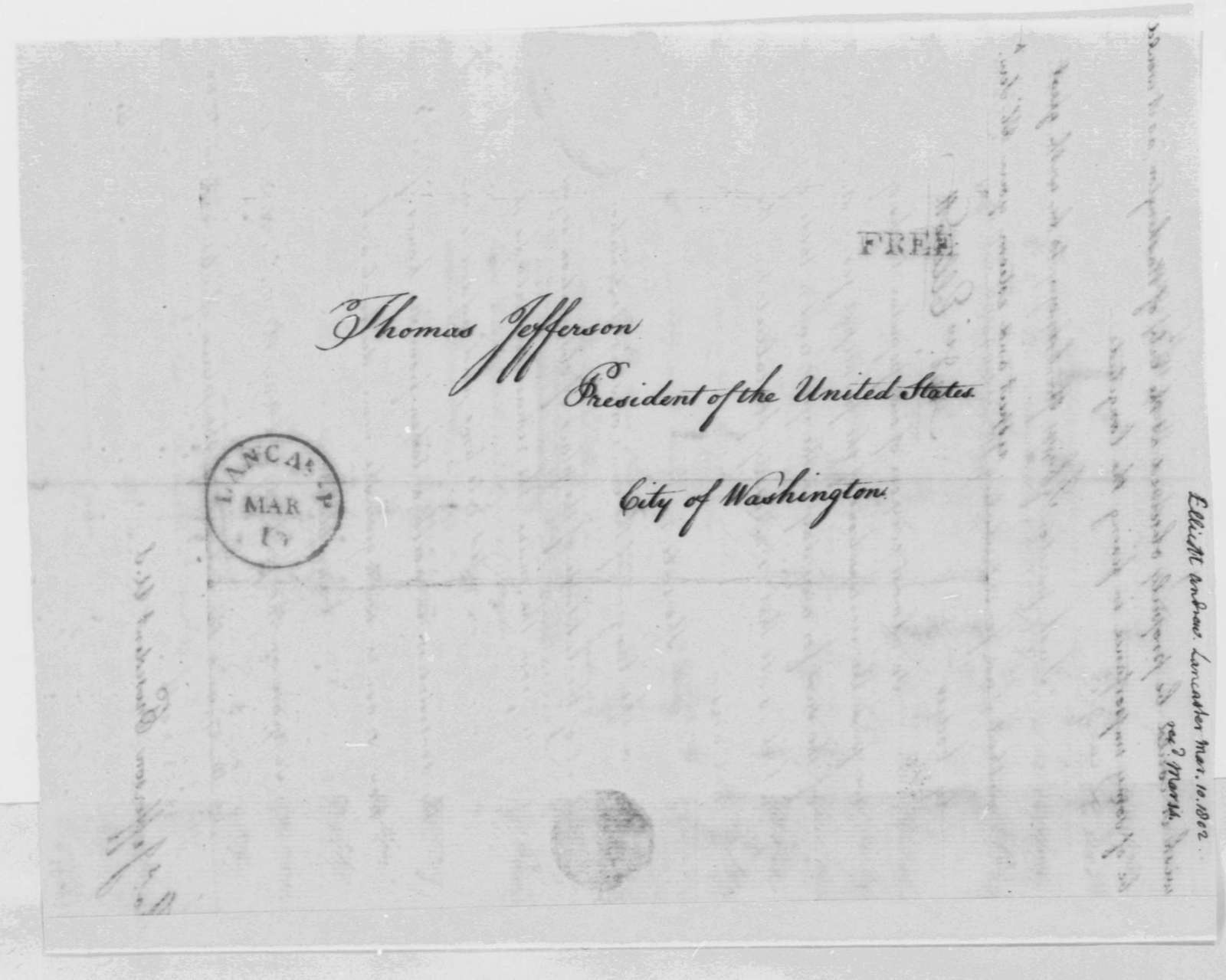 Andrew Ellicott to Thomas Jefferson, March 19, 1802