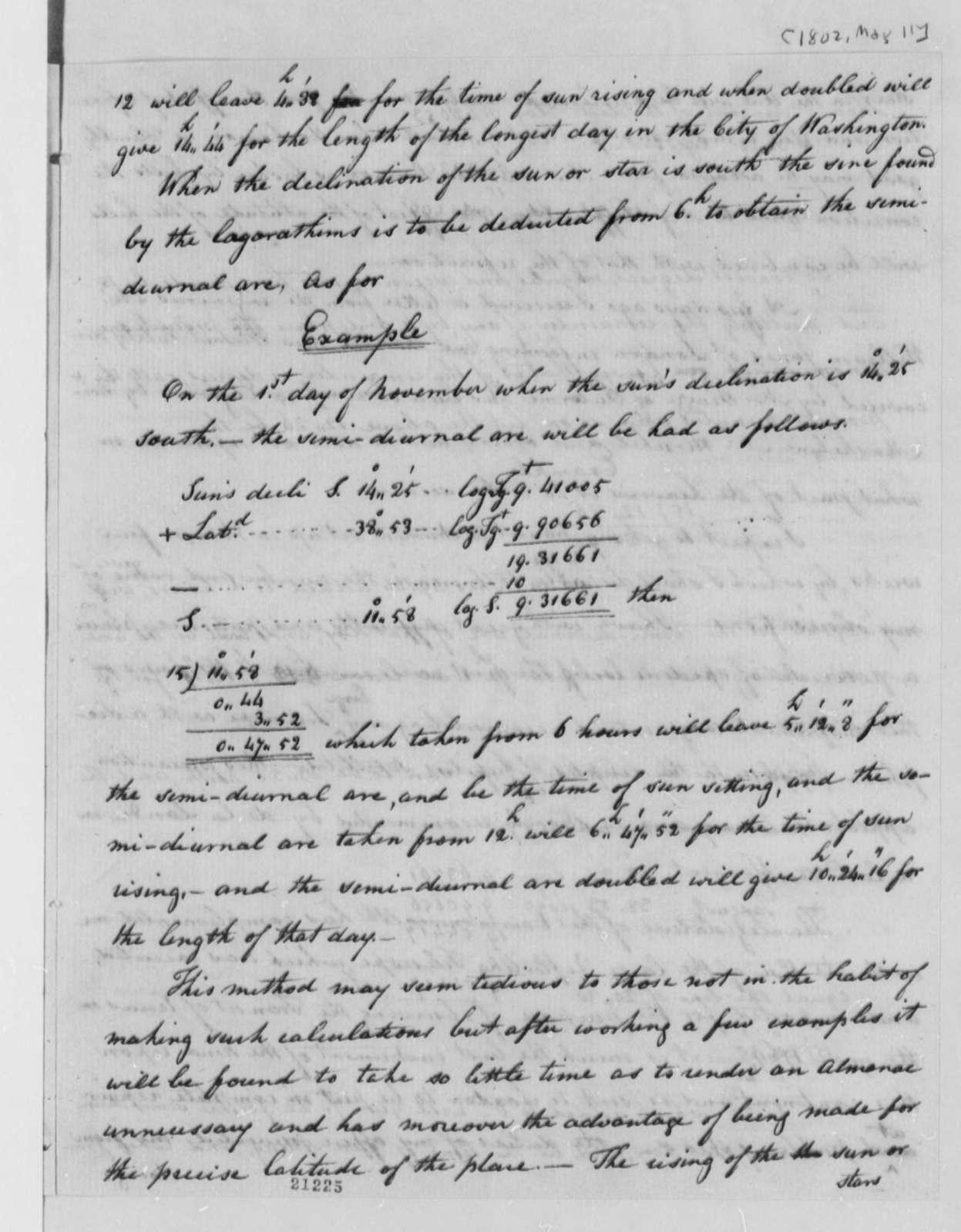 Andrew Ellicott to Thomas Jefferson, May 11, 1802