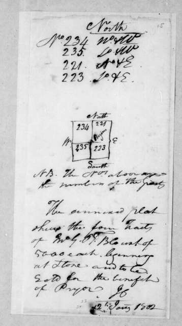 Andrew Jackson, January 12, 1802