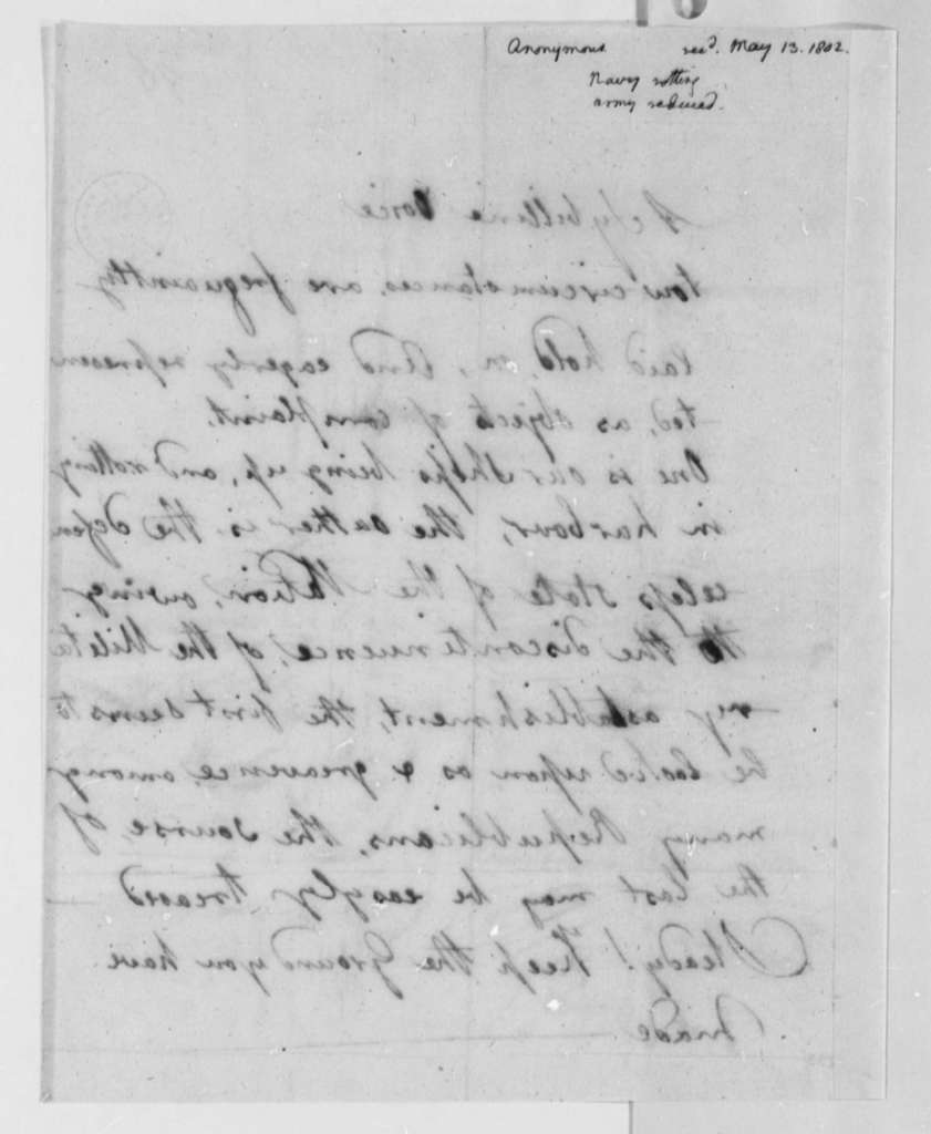 Anonymous, May 13, 1802