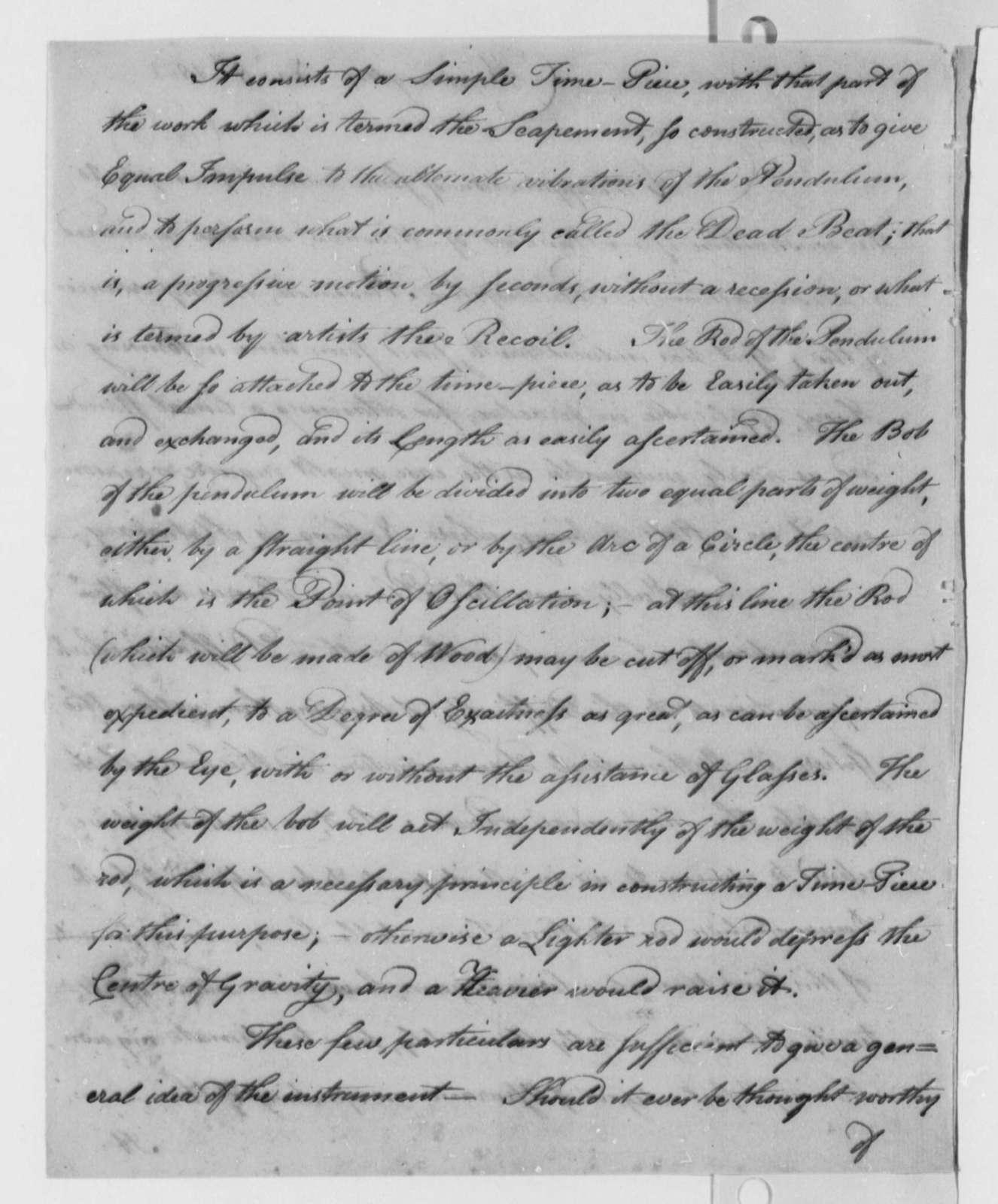 Benjamin Dearborn to Thomas Jefferson, November 8, 1802