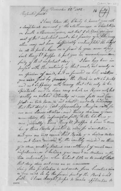 Benjamin Gorton to Thomas Jefferson, December 22, 1802