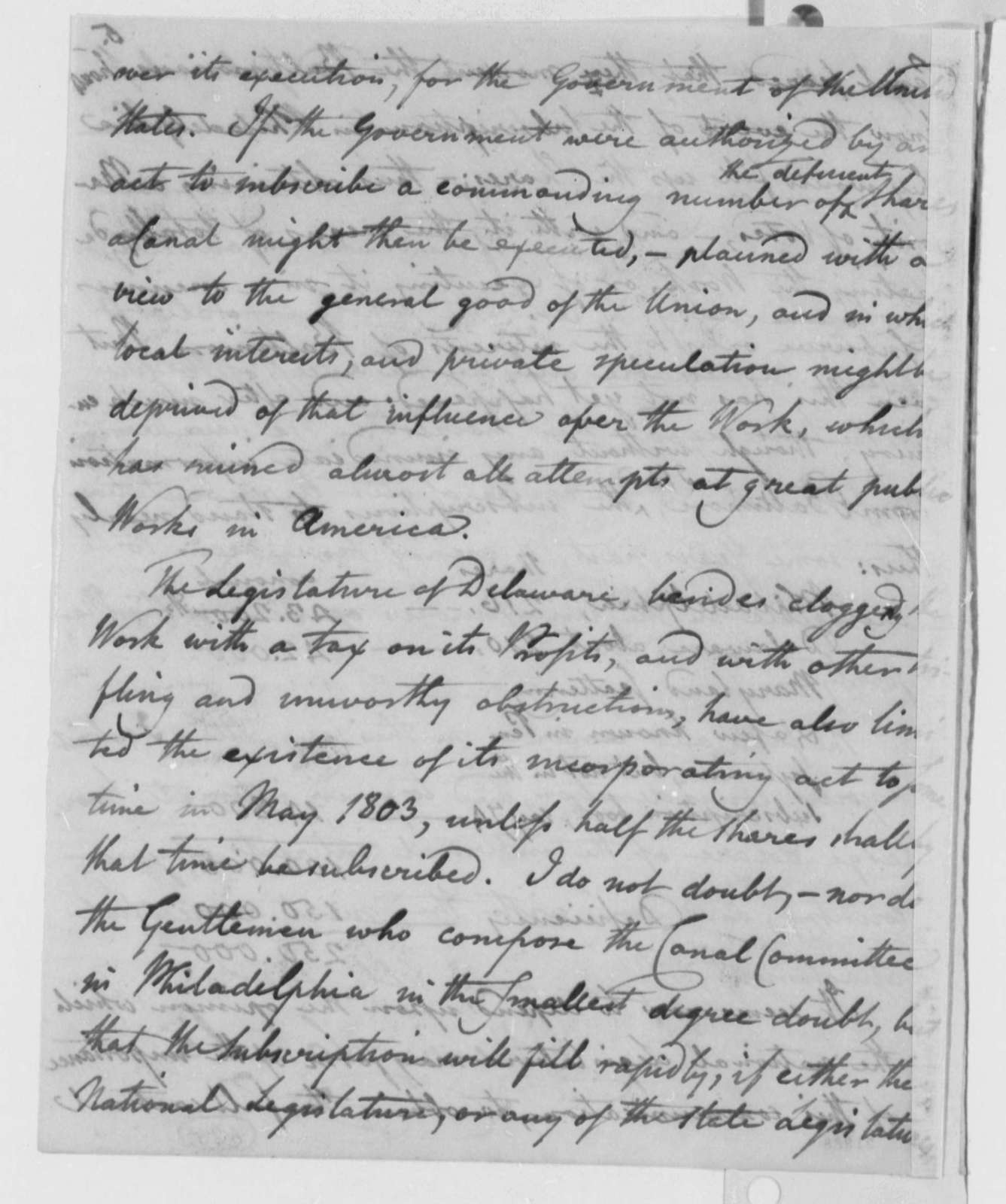 Benjamin H. Latrobe to Thomas Jefferson, March 27, 1802, Dated March 27, 1802 to October 24