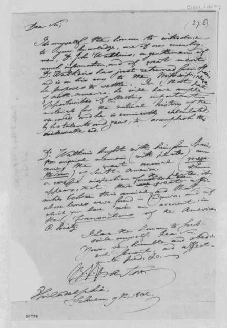 Benjamin Smith Barton to Thomas Jefferson, February 9, 1802