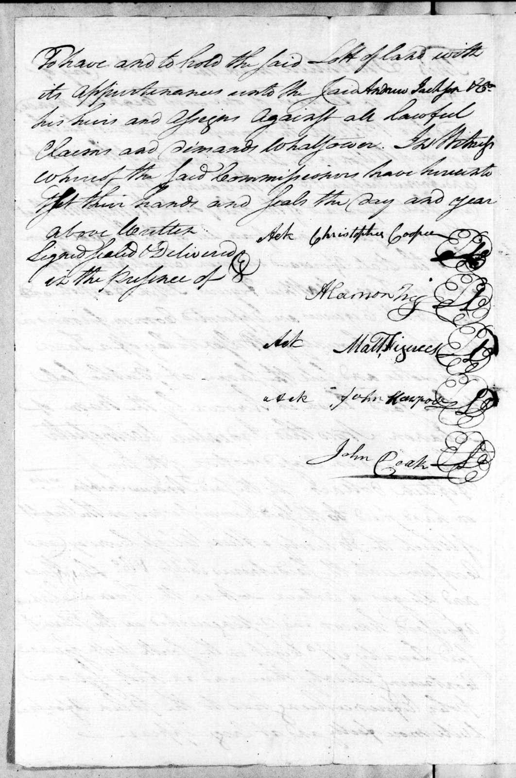 C. Cooper et al to Andrew Jackson, August 16, 1802