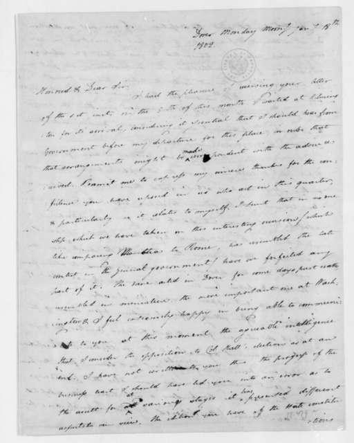 Caesar A. Rodney to James Madison, January 18, 1802. With January 19 postscript.