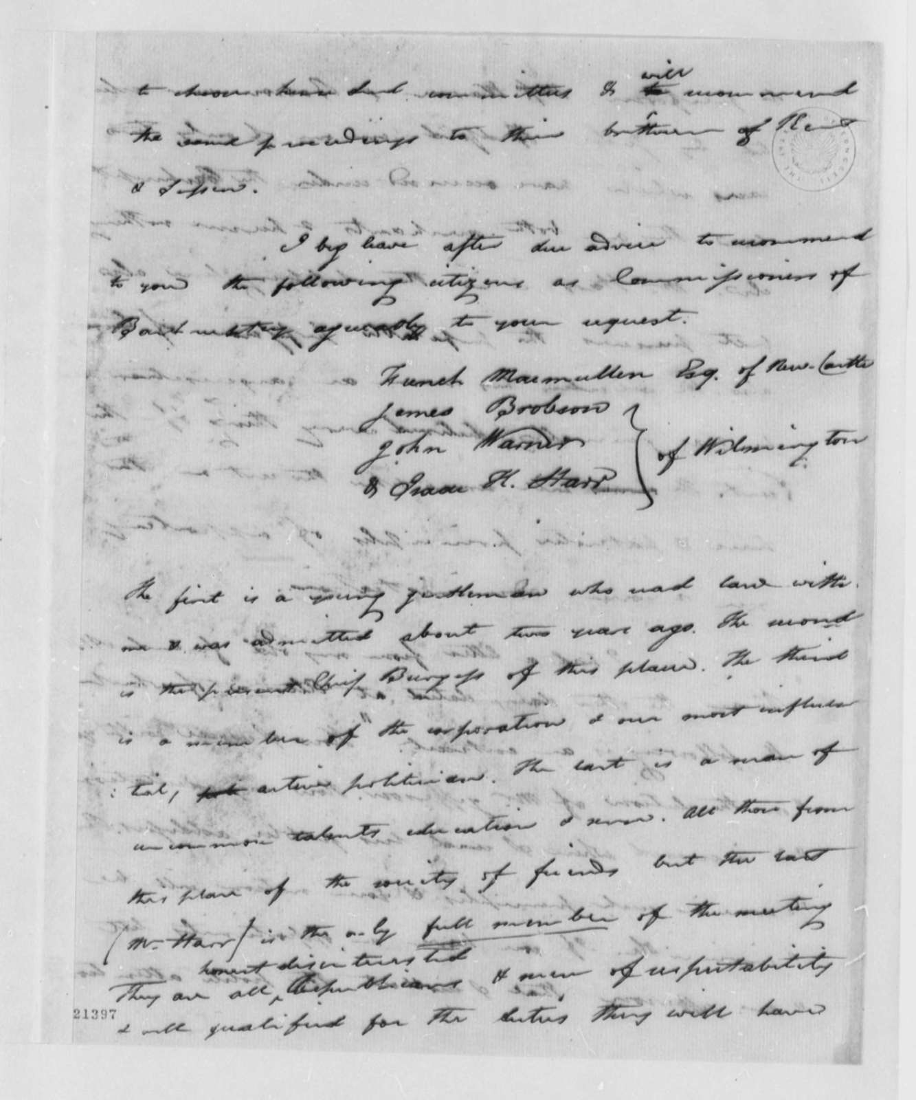 Caesar A. Rodney to Thomas Jefferson, June 28, 1802
