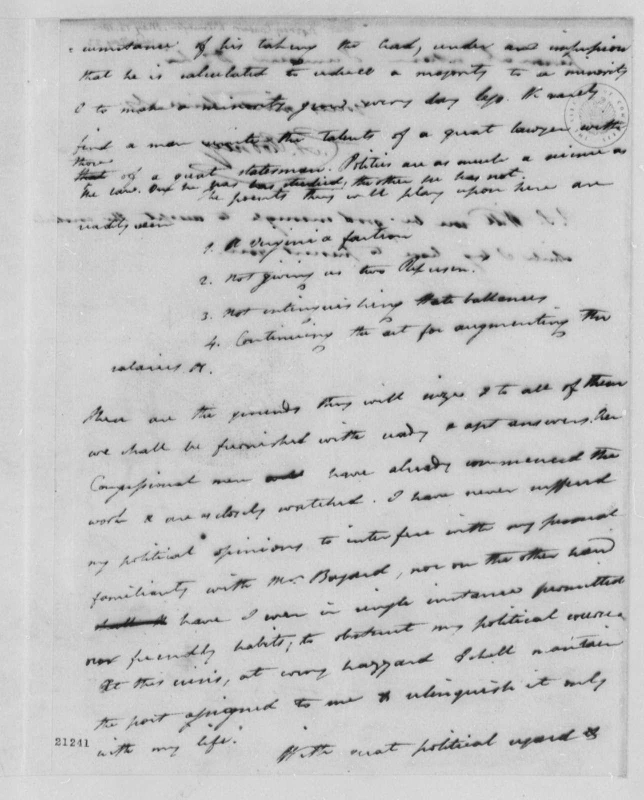 Caesar A. Rodney to Thomas Jefferson, May 16, 1802