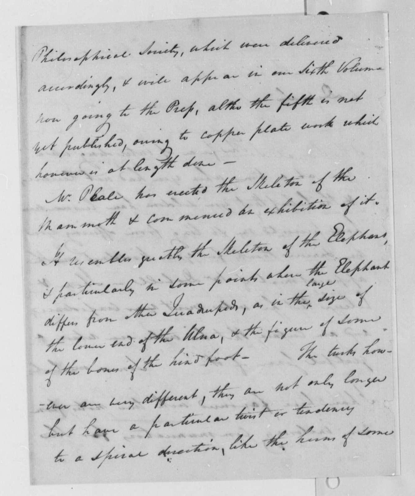 Caspar Wistar to Thomas Jefferson, January 1, 1802