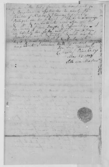 Charles Pinckney to Thomas Jefferson, May 24, 1802, Partly Cipher