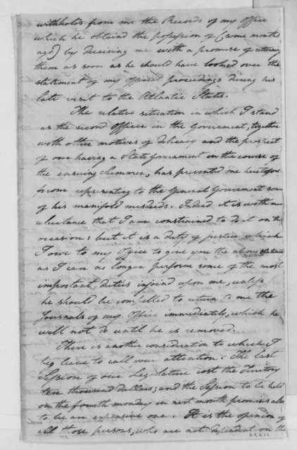 Charles W. Byrd to Thomas Jefferson, October 15, 1802