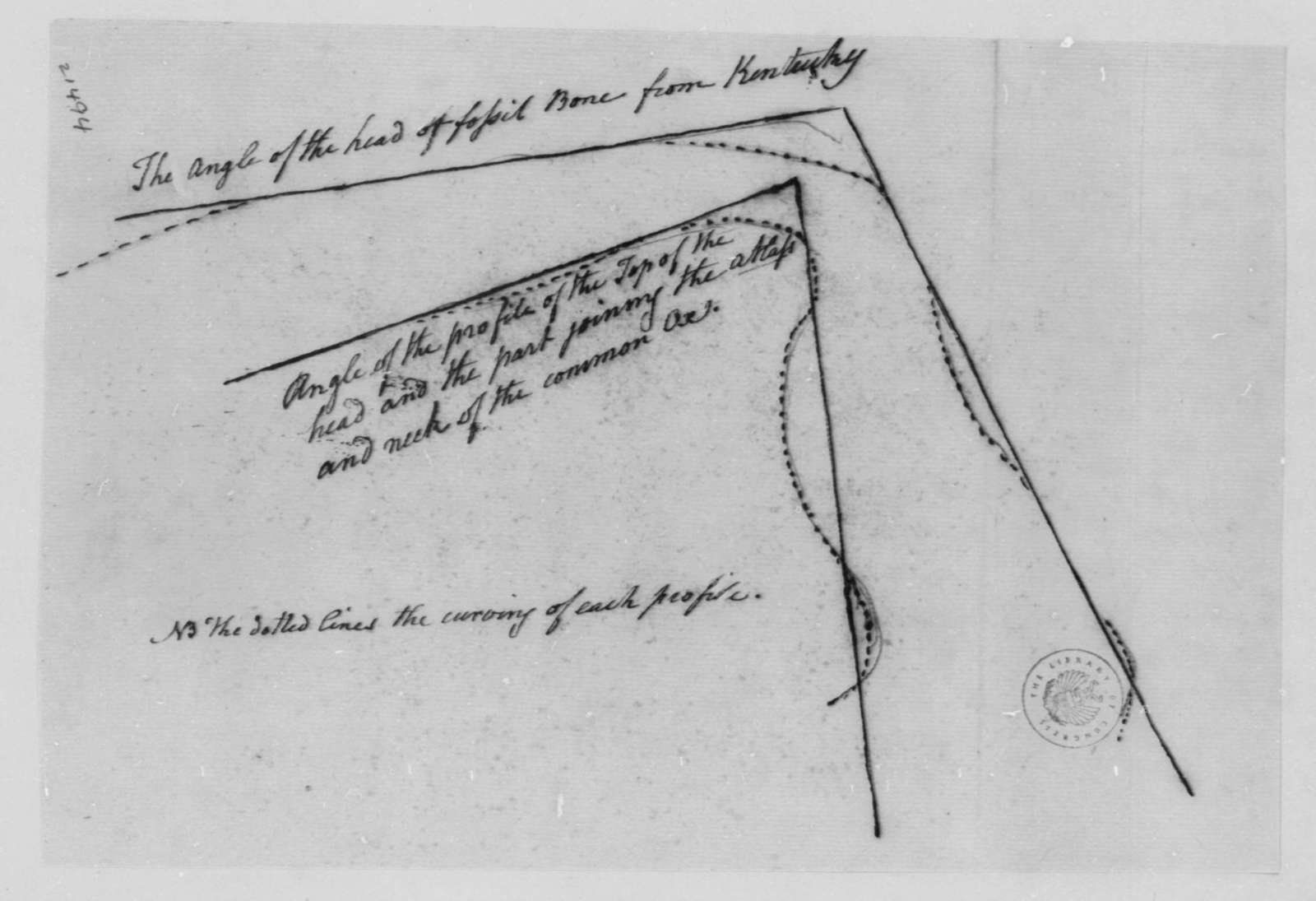 Charles Willson Peale to Thomas Jefferson, July 18, 1802, Drawings and Sketches